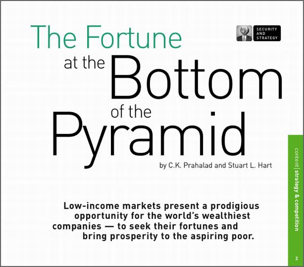 Fortune at the Bottom of the Pyramid