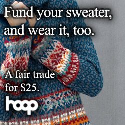Fund Your Sweater and wear it too