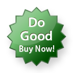 Green badge: Do Good, Buy Now!