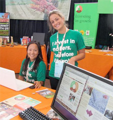 Kartika and Maia at the Hoop Booth at SOCAP10